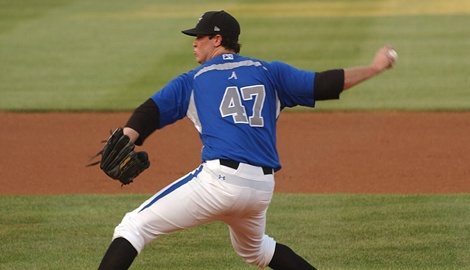 Scott Copeland tossed six shutout innings in his first professional win on Sunday night.