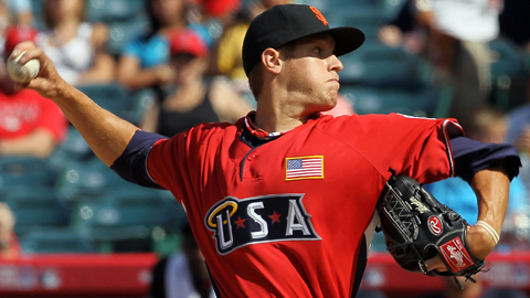 Zack Wheeler pitched a scoreless inning at the 2010 Futures Game.