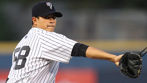 Manny Banuelos has a 3.03 ERA in six starts for Scranton/Wilkes-Barre.